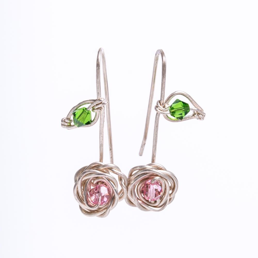 Earrings_SterlingSilverRosewithSC_Hung