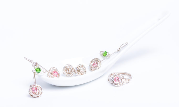 The Rose Collection on a spoon
