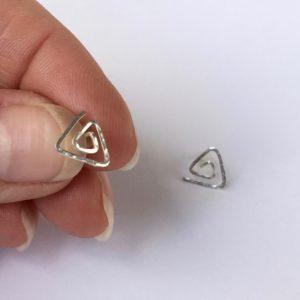 Triangle Spiral Studs
