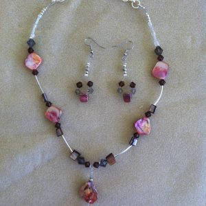 Pink Mother of Pearl set