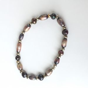 Beautiful repaired silver and freshwater pearl bracelet