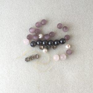 broken pink bead hematite bracelet