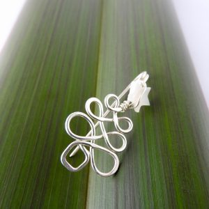 Sterling Silver Christmas Tree Pin with white Mother of Pearl Star at the top