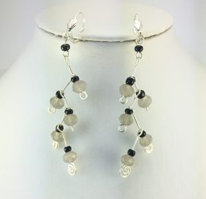 Up-cycled Earrings_Using customers own beads to make new earrings