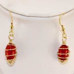 CarnelianEncasedGoldPlated Earrings