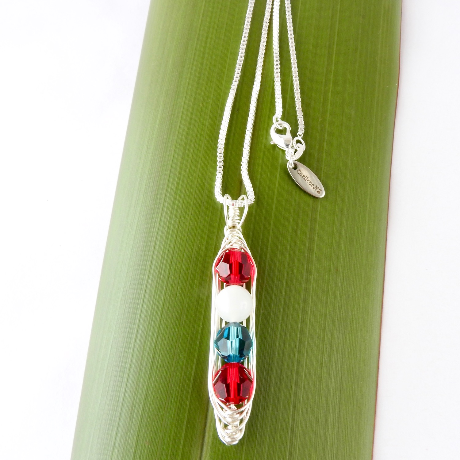 Beautiful Birthstone Gift for her_Pea Pod Necklace
