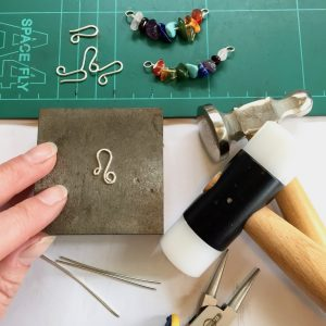 Handmade Eco Sterling Silver wire hooks or clasps