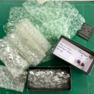 repurposing bubble wrap instead of foam inserts in jewellery packaging