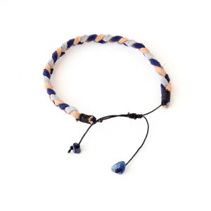 ladies braided suede bracelet in nautical colours with lapis lazuli