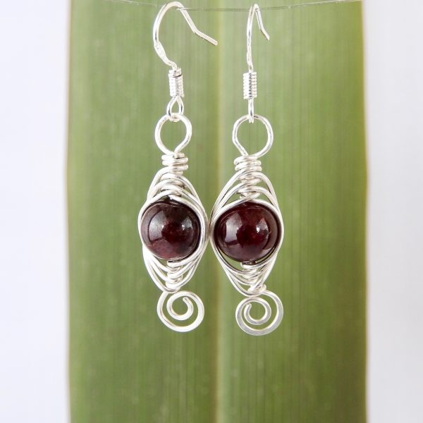 Customisable Birthstone Earrings in Eco Silver