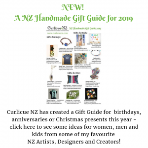 NZ Handmade Gift Guide for 2019 showing various NZ Designer Creators