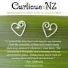 Customer testimonial for koru heart studs