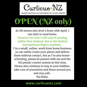 NZ Level 3 Shop Open and able to send from 28 April