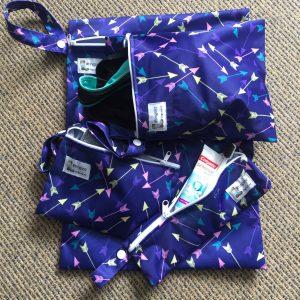 Locally handmade washable wet bags