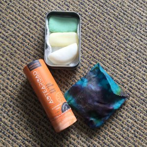 Shampoo, conditioner, shaving soap bars and deodorant in plastic free packaging