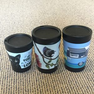 Travel Keep Cups made from recycled materials