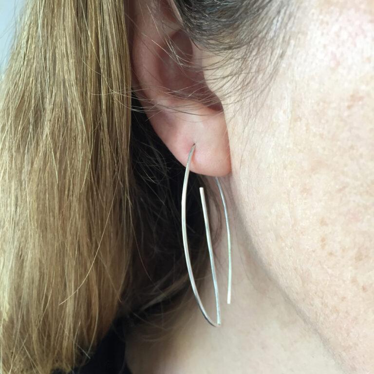 Large leaf earring back hook