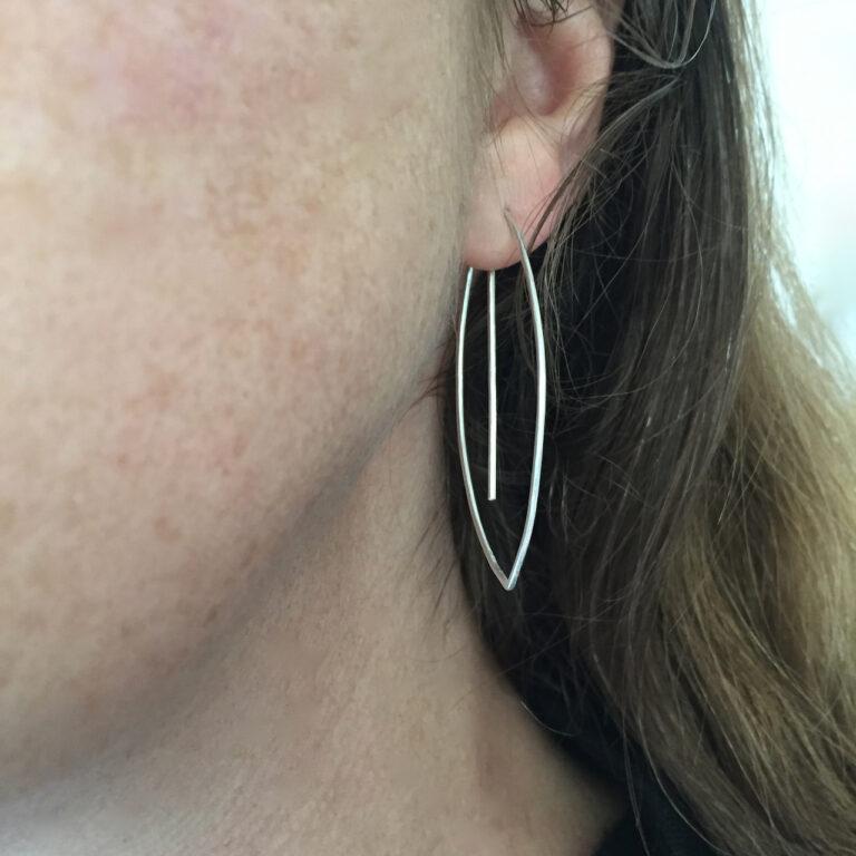Large Leaf earring middle hook