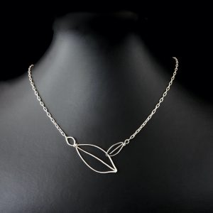 leaf jewellery in sustainable Sterling Silver