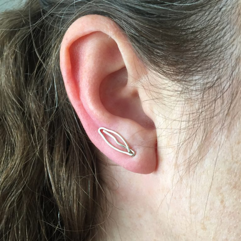 Small leaf earring climbers