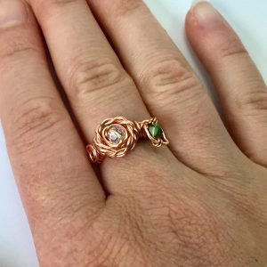 First design of Rose Ring with a leaf