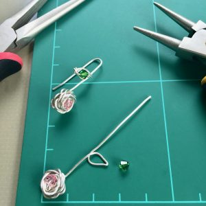 Behind the scenes: Making the Rose Drop Earrings from recycled Sterling Silver wire