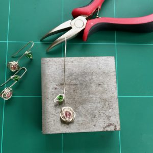 Making the Rose and Leaf Pendant with Swarovski Crystals