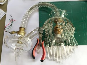 Tools need to fix glass chanderlier